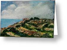 A Maltese Country Landscape Greeting Card