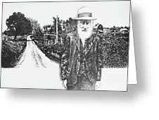 A Man And His Farm Greeting Card