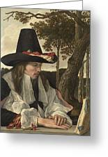 A Man Reading, Anonymous, C. 1660 Greeting Card
