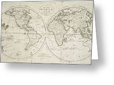 A Map Of The World From The Best Authorities Greeting Card