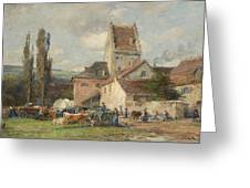 A Market Scene Greeting Card