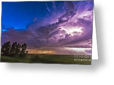 A Massive Thunderstorm Lit Internally Greeting Card