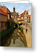 A Medieval Village In Germany Greeting Card