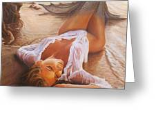 A Mermaid In The Sunset - Love Is Seduction Greeting Card