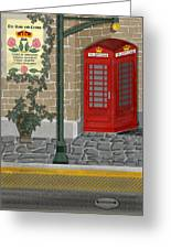 A Merry Old Corner In London Greeting Card