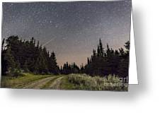 A Meteor And The Big Dipper Greeting Card