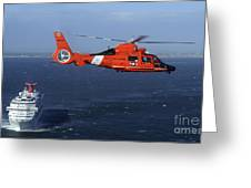 A Mh-65c Dolphin Helicopter Greeting Card