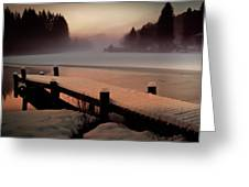 A Misty Glow Greeting Card