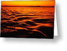 A Molten Sea Greeting Card