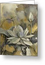 A Moment At The Lotus Pond Greeting Card