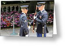Face To Face During The Changing Of The Guard Greeting Card
