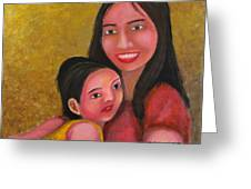 A Moment With Mom Greeting Card