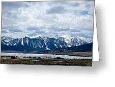 A Montana Village Scape Greeting Card