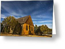 A Moonlit Nightscape Of The Historic Greeting Card