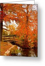A Morning In Autumn - Lake Carasaljo Greeting Card