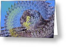 A Mossy Rock  Greeting Card