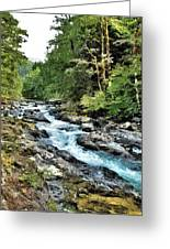 A Mountain River 2 Greeting Card