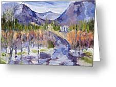 A Mountain Road Greeting Card