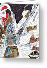 A Mountain Village Greeting Card