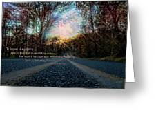 A Mysterious Country Road Greeting Card