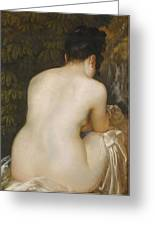 A Naked Woman Seen From Behind Greeting Card