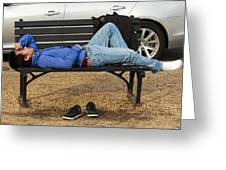 A Nap In The Park Greeting Card