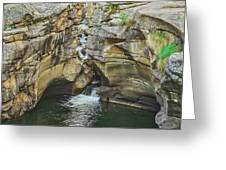 A Natatorium By The Cliff Greeting Card
