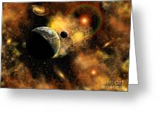 A Nebulous Star System In A Distant Greeting Card