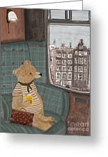 A New Adventure For Bear  Greeting Card