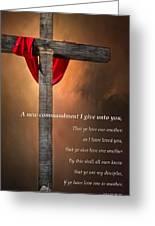 A New Commandment  Greeting Card