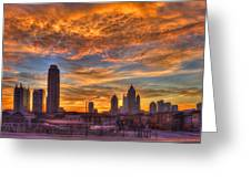 A New Day Atlantic Station Sunrise Greeting Card