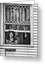 A New Orleans Greeting 2 Bw Greeting Card
