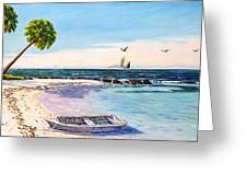 A Nice Day At The Beach Greeting Card