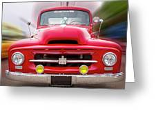 A Nice Red Truck  Greeting Card
