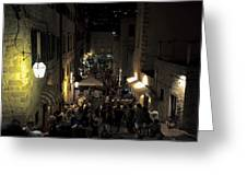 A Night In Dubrovnik Greeting Card