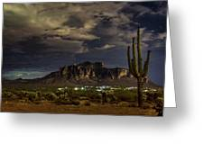 A Night In The Superstitions  Greeting Card