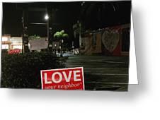 A Night Walk In Orlando  Greeting Card