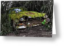 A Non Rolling Car Gathers Some Moss Greeting Card
