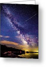 A Northern View Of The Milky Way Greeting Card