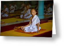 A Novice Monk In Rural Thailand Greeting Card