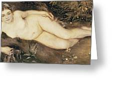 A Nymph By A Stream Greeting Card