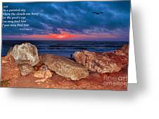 A Painted Sky For The Poet's Eye Greeting Card