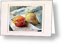 A Pair Of Pears Greeting Card