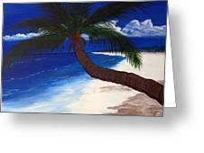 A Palm On The Coast Greeting Card