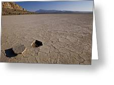 A Parched Lake Bed Below Notch Peak Greeting Card
