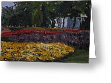 A Park In Cambrige Greeting Card