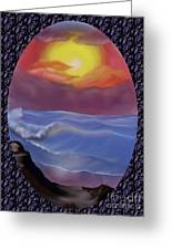 A Pastel Seascape  Greeting Card