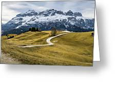 A Path In The Dolomites - Alta Badia, Italy - Landscape Photogra Greeting Card