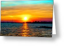 A Path To The Sun Greeting Card