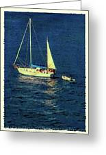A Peaceful Day For Sailing Greeting Card